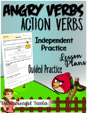 Action Verbs with Angry Birds Practice Page, Bulletin Board, and Lesson Plans