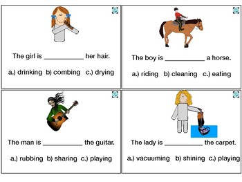 Action Word Sentence Task Cards