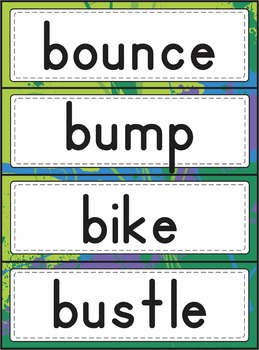Action Word Writing Packet