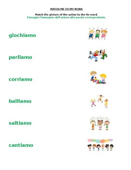 Action Words AZZIONI