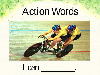 Action Words (Action Verbs) Powerpoint Slides