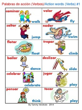 Action Words Bilingual