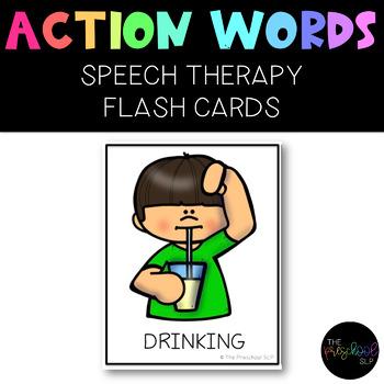 PRESCHOOL Action Words Flash Cards: 108 Verbs