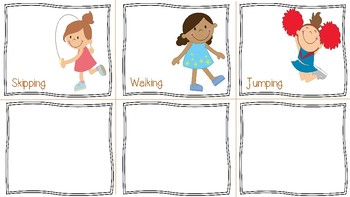 Action Words Flashcard and Sentence Strip