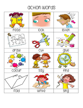 Action Words Grade 1