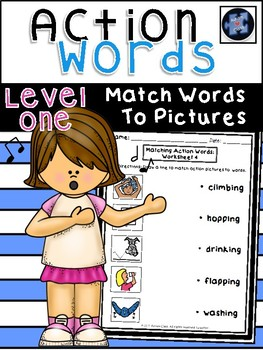 Action Words: Match Words to Pictures