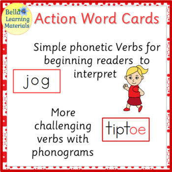 Verbs - Montessori Action Word Cards