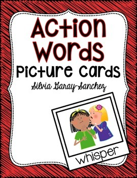 Action Words Picture Cards for Language Development
