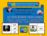 Action Words Task Cards for Autism