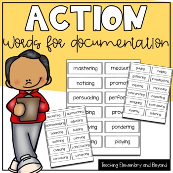 Action Words to Support Documentation on Bulletin Boards