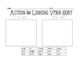 Action and Linking Verb Sort