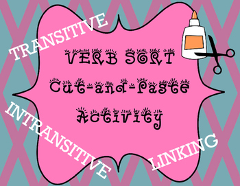 Action and Linking Verb Sort Cut-and-Paste Activity