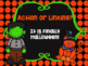 Action and Linking Verbs Powerpoint Halloween Themed