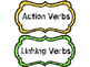 Action and Linking Verbs Sort