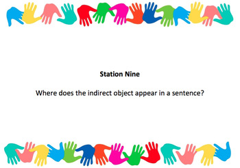 Action and Linking Verbs Stations Review Task Card Activity
