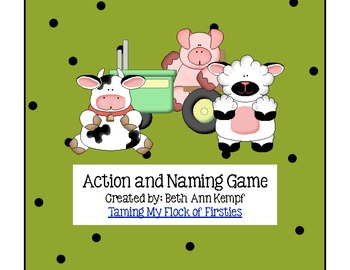 Action and Naming Game Farm Animal Theme