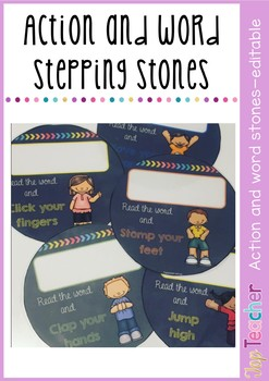 Action and word stepping stones