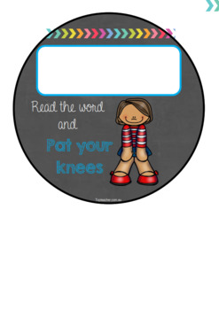 Action and word stepping stones - Editable