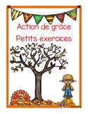 Action de grâce (petits exercices)