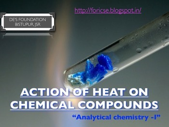 Action of heat on some chemical compounds.