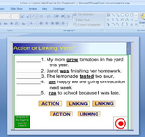 Action or Linking Verb Exercise for Powerpoint