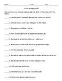 Action or Linking Verb? Worksheet