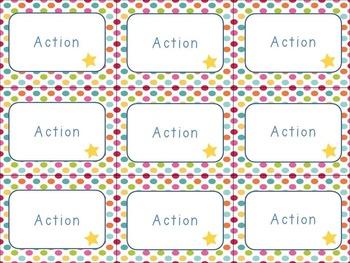 Movement break action task cards