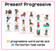 Action verb games: Present progressive activities flashcards ESL ELA ELL