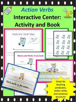 Action verbs -printable creative writing book