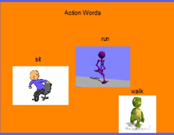 Action words classroom language activity