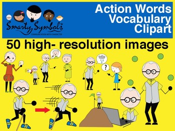 Action Words Cliparts - 50 png images