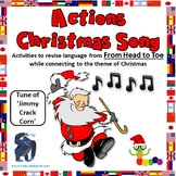 Actions Christmas Song - Worksheets and Crafts - EFL / ESL