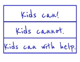 Actions Kids can and Cannot Take to Help the Environment Sort