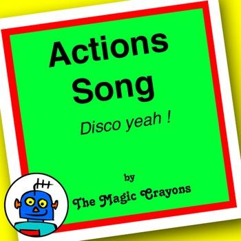 English Actions Song 1 for ESL, EFL, Kindergarten. Champion, jump, fast, slow