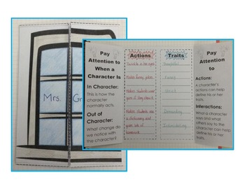 Actions Tell About A Character - Interactive Reading Strategy - ELA Series