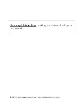 Actions- acceptable or unacceptable?