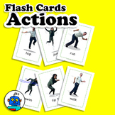 Actions Flash Cards - Movement Vocabulary - ESL, EFL Engli