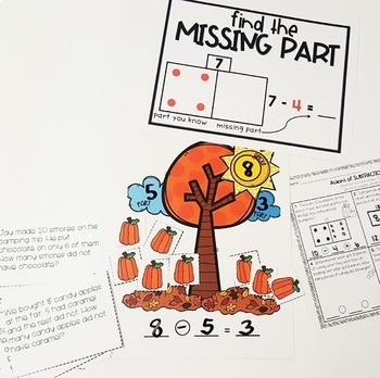 Actions of Subtraction - Take Away, Comparing and Missing Part Word Problems