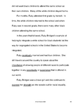 Actions of a Brave Six-Year-Old, Ruby Bridges