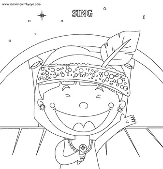 Actions song and coloring book!