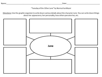 """Activities and Handouts for the Short Story """"Tuesday of the Other June"""""""