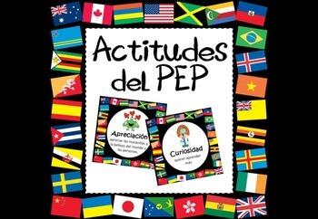 Actitudes del PEP - IB PYP attitudes posters in Spanish