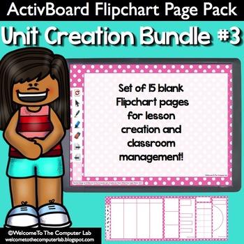 ActivBoard Flipchart Pack : Unit Creation Bundle #3