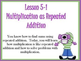 ActivBoard Smartboard Multiplication as Repeated Addition Gr. 3
