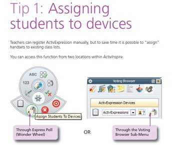ActivExpression: Chapter 12 Tips for teachers in using ActivExpression