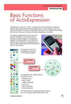 ActivExpression: Chapter 4 Starting lessons with ActivExpression