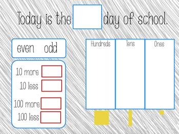 ActivInspire Daily Math Calendar Routine flipchart for Promethean board