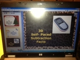 ActivInspire Flipchart - 30 Self Paced Subtraction Facts - K-5 - CCSS grades 1-5