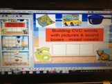 CVC Words w/ Pictures & Sound Boxes- Phonemic Awareness flipchart