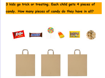 ActivInspire October Halloween Word Problems- Basic Addition and Subtraction